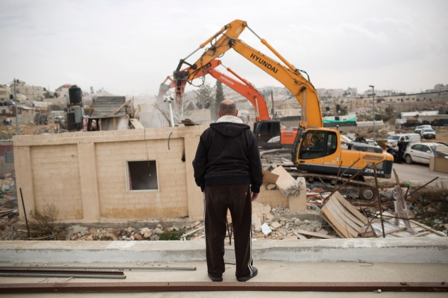 House demolition, Beit Hanina, East Jerusalem, 27.1.2014